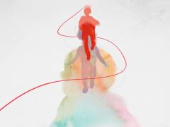 十九大精神主题创作活动优秀奖:《成长前行,向新时代迈进》